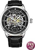 Stuhrling Original Men's 133.33151 Executive Automatic Skeleton Black Watch