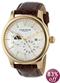 Akribos XXIV Men's AK537YG Ultimate Stainless Steel Automatic Multifunction Strap Watch