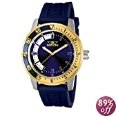 Invicta Men's 12847 Specialty Blue Dial Watch with Gold/Blue Bezel