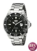Invicta Men's 12817 Pro Diver Black Dial Diamond Accented Watch