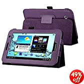 eForCity Leather Case with Stand for 7-Inch Samsung Galaxy Tab 2, Purple (PSAMGLXTLC10)