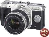 Amazon.co.jp: PENTAX ミラーレス一眼 Q10 ズームレンズキット [標準ズーム 02 STANDARD ZOOM] シルバー Q10 LENSKIT SILVER 12163: カメラ・ビデオ