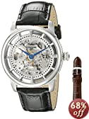 "Stuhrling Original Men's 393.33152Set ""Classic Winchester"" Stainless Steel Automatic Watch with Leather Band"