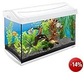 Tetra 211926 AquaArt Aquarium-Komplett-Set 60 L, modernes Design in Verbindung mit innovativer Technik und einfacher Pflege, White Edition