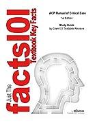 e-Study Guide for: ACP Manual of Critical…