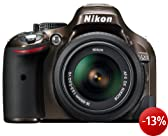 Nikon D5200 SLR-Digitalkamera (24,1 Megapixel, 7,6 cm (3 Zoll) TFT-Display, Full HD, HDMI) Kit inkl. AF-S DX 18-55 mm VR Objektiv bronze