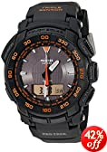 Casio Men's PRG550-1A4 Pro Trek Triple-Sensor Tough Solar Analog-Digital Sport Watch