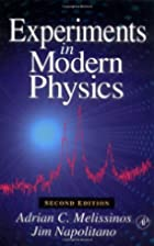 Experiments in Modern Physics by Adrian C.…