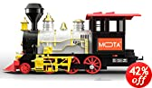 MOTA Christmas Santa Train with Sound, Light and Real Smoke, Black/Red/Gold