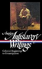 American Antislavery Writings: Colonial…