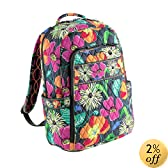 Vera Bradley Laptop Backpack Jazzy Blooms