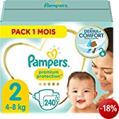 Pampers Windeln New Baby Gr. 2 Mini 3-6 kg Monatsbox, 1er Pack (1 x 240 Stück)