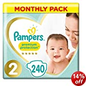 Pampers New Baby Size 2 (Mini) Monthly Pack--240 Nappies