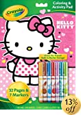 Crayola Hello Kitty Coloring and Activity Pad with Markers