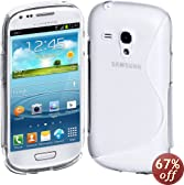 Cimo S-Line Back Case Flexible TPU Cover for Samsung Galaxy S III mini - Clear