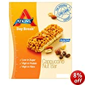 Atkins 37g Day Break Cappuccino Nut Bars - 4 x box of 5 (20 Bars)