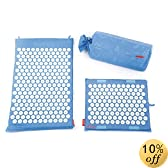 Spoonk - ORGANIC HEMP - COMBO 2 pc / 1regular size +1 head rest (travel size) /ECO foam/ USA MADE/ featured on DR. OZ/ use for sleep induction/ relieve tension / reduce stress and anxiety/SKY BLUE