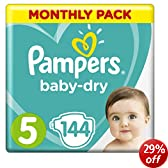 Pampers Baby Dry Size 5 Junior Monthly Pack--144 Nappies