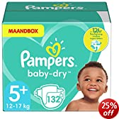 Pampers Baby Dry Size 5+ Junior Plus Monthly Pack - 132 Nappies