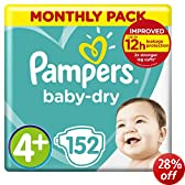 Pampers Baby Dry Size 4 + Maxi Plus Monthly Pack--152 Nappies
