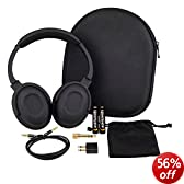 7dayshop AERO 7 Active Noise Cancelling Headphones with Aeroplane Kit and Travel Case
