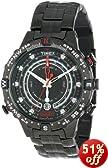 Timex Men's T2P140DH  Intelligent Quartz Adventure Series Tide Temp Compass Black IP Stainless Steel Bracelet Watch