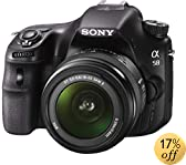 Sony SLT-A58K Digital SLR Kit with 18-55mm Zoom Lens, 20.1MP SLR Camera with 2.7 -Inch LCD Screen (Black)