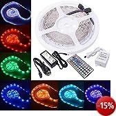 XCSOURCE 10m RGB 5050 SMD 300LED Streifen Lichterkette + 44 Tasten Infrarot Fernbedienung + 60W Netzteil LD121E