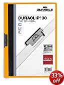 Durable Duraclip 2200/09 Clip File for 1-30 Sheets A4 - Orange