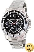 Michael Kors Everest Chronograph Black Dial Stainless Steel Ladies Watch MK5753