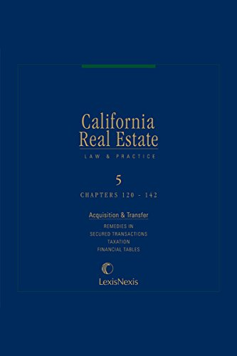 california-real-estate-law-and-practice-volume-5