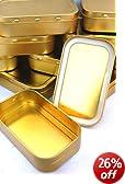10 x Metal Small 1oz Tobacco Tin with Lids - Plain Gold/Copper Colour FREE POST (10 x Small 1oz Plain)