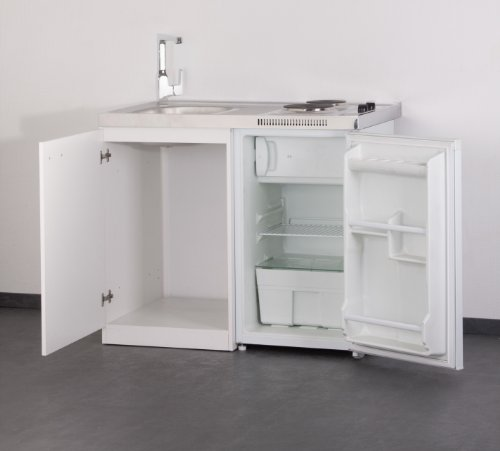set mebasa mk0001 k che inkl armatur minik che singlek che in wei 100cm inkl k hlschrank. Black Bedroom Furniture Sets. Home Design Ideas