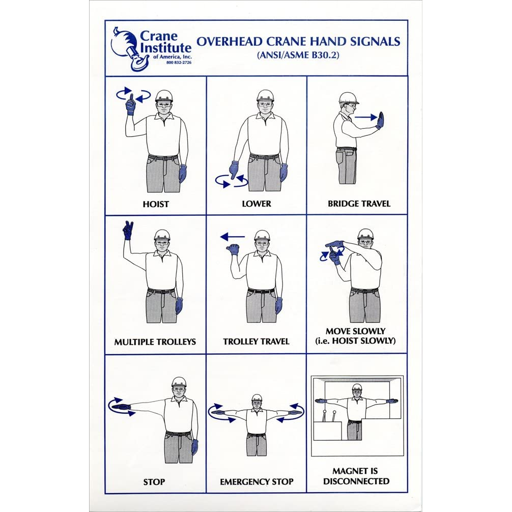 Tower Crane Signals : Printable tower crane hand signal chart short hairstyle