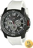 U.S. Polo Assn. Sport Men's US9184  White Silicone Analog Digital Watch