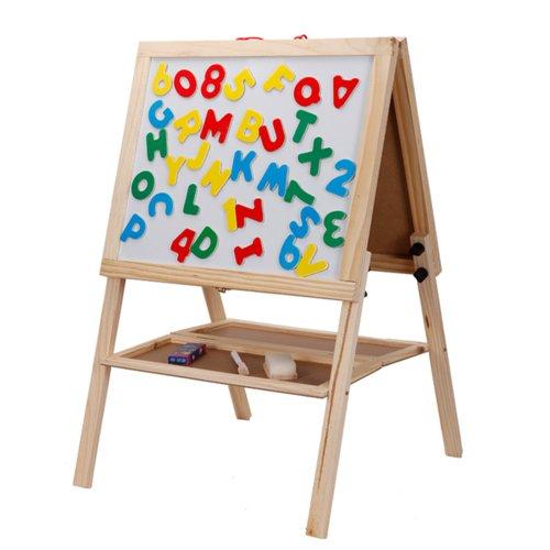 mutong 木童 手工/涂鸦玩具 儿童画板画架 木制磁性写字板涂鸦板 送字
