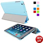 Snugg iPad Mini 1 / 2/ 3 Ultra Thin Smart Case in Baby Blue - Flip Stand Cover with Auto Wake and Sleep for Apple iPad Mini, iPad Mini 2 and iPad Mini 3