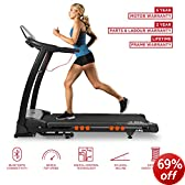 JLL S400 motorised folding treadmill with digital motor technology, Two men premium delivery, 4.5HP motor with 16km max speed, 20 Auto incline, 16 point shock absorption running deck, 15 professional running programs, 0.3km slowest start speed, 5 year motor warranty plus lifetime frame guarantee and 2 years Parts & Labour warranty.