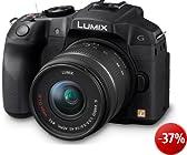 Panasonic Lumix DMC-G6KEG-K Systemkamera (16 Megapixel, 7,6 cm (3 Zoll) Touchscreen, WiFi, NFC) mit Objektiv Lumix G Vario F3,5-5,6/14-42 Asph./OIS schwarz