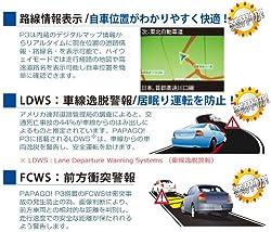 路線情報表示・車線逸脱警報・前方衝突警報