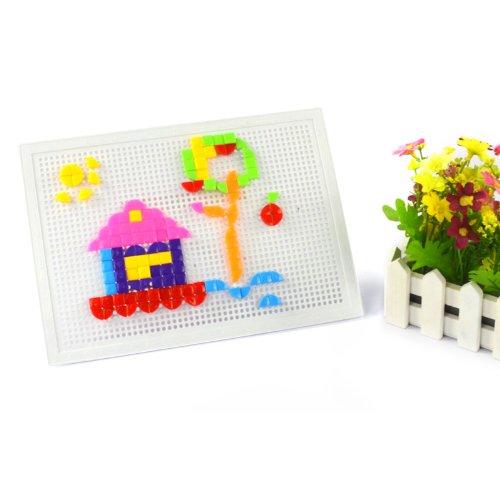 蘑菇钉插板玩具 儿童益智拼插玩具