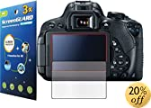 3x Canon Rebel T5i (EOS 700D) Kiss X7i DSLR camera Premium Clear LCD Screen Protector Cover Guard Shield Protective Film Kit (3 pieces by GUARMOR)