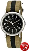 Timex Weekender Unisex Quartz Watch with Black Dial Analogue Display and Multicolour Nylon Strap T2P236PF