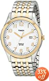 Timex Men's T2P2029J Elevated Classics Dress Two-Tone Expansion Band Watch