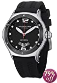 "Stuhrling Original Men's 478.33D61 ""Champion Alpine Slope"" Stainless Steel Watch with Black Rubber Strap"