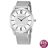 "Stuhrling Original Men's 122.33112 ""Classic Ascot Somerset Elite"" Stainless Steel Watch with Mesh Band"