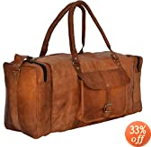 "Gusti Leder nature ""Harvey"" Genuine Leather Holdall Duffle Gym Weekender Luggage Travel Shoulder Vintage Bag Unisex Brown R27b"