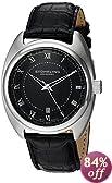 Stuhrling Original Men's 728.02 Aristocrat Twenty Swiss Quartz Date Black Dial Watch