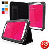 Snugg Galaxy Note 8 Case - Smart Cover with Flip Stand & Lifetime Guarantee (Electric Blue Leather) for Samsung Galaxy Note 8