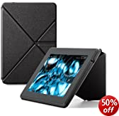 "Amazon Kindle Fire HD 7"" Standing Leather Origami Case (will only fit All-New Kindle Fire HD 7""), Black"